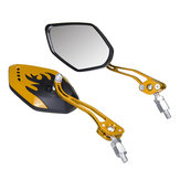 8/10mm Universal Motorcycle Motorbike Scooter Rear View Side Back Mirrors