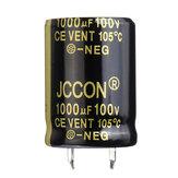 3 قطع 1000 فائق التوهج 100 فولت 22x30 ملليمتر مكثف شعاعي الألومنيوم كهربائيا عالية التردد 105 درجة مئوية
