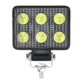 3inch 6LED 18W 6000K Work Light License Plate Lamp Truck Off Road Tractor Spot Light Squar