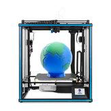 TRONXY® X5SA-400-2E 3D-Doppelextruder-Mischfarbdrucker mit 400 * 400 * 400 mm Druckfläche / extrem leisem Druck / Corexy-Doppel-Z-Achse / 24-V-Netzteil
