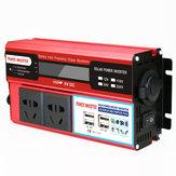 12V/24/ To 220V Inverter True 500W Display 4USB Power Inverter Photovoltaic Inverter Multi-socket Vehicle Inverter