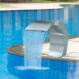 60 × 30cm Aço inoxidável Piscina Fonte de sotaque Lagoa Jardim Natação Piscina Cachoeira Torneira