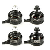4X Racerstar Racing Edition 2205 BR2205 2600KV 2-4S Brushless Motor Black For 210 X220 250 280 RC Drone