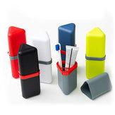 HonanaTriánguloPPPortátil6Opciones de color Cepillo de dientes Organizador Viaje Lavado Copa Almacenamiento Caja