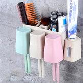 Distributore automatico di dentifricio in pasta 8 Portaspazzolino