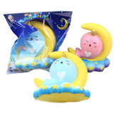 Sanqi Elan 16CM Animal Squishy Unicorn Moon NarWhale Slow Rebound Con Confezione regalo