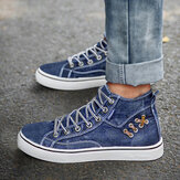 Femmes Denim Comfy Wearable Casual Sports High Top Flats