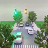 5V Street ضوء Traffic ضوء نموذج HO OO Scale Turn Signal LED نموذج Train Architecture Street