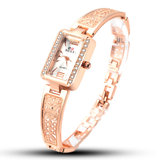 SOXY 0123 Rose Gold Retângulo Dial Ladies Bracelet Assistir
