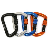 XINDA XD8121N 7075 Aviation Aluminum 2800kg 800kg Tension D-ring Rock Climbing Carabiner Screw Lock