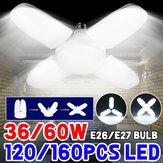 AC85-265V E27/E26 36W 60W LED Ampul Deforme Garaj Lamba Katlanabilir Tavan Işığı Ev İç Mekan Kullanımı için