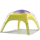 في الهواء الطلق 3-4 أشخاص التخييم خيمة التلقائي افتتاح شاطئ أوف المطر ظلة الستارة مع أسفل حصيرة