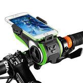 ROCKBROS多機能自転車電話ホルダー自転車ライトBluetoothオーディオパワーバンクサイクリングリングベル統合USB充電器自転車アクセサリー
