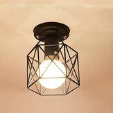 Luz de gaiola de ferro moderna 220V Pingente E27 LED Lâmpada nórdica do corredor da sala de estar
