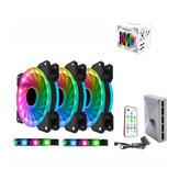 120mm LED Computador Caso Ventilador de resfriamento RGB ajustável e velocidade do ventilador Controle Remoto Suporte 5v 3Pin De ALSEYE Série D-Ringer