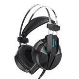 MISDE H9ゲームヘッドフォンヘッドセットLEDライトステレオノイズキャンセルマイク付きヘッドフォン