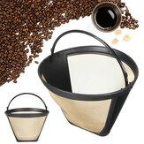 Filtro para funil de café em aço inoxidável reutilizável Chá Filtros Fio Cesta de malha