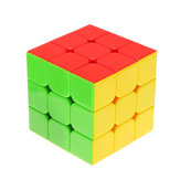 Classic Magic Cube Toys 3x3x3 PVC Sticker Block Puzzle Speed Cube Sugar Color