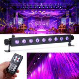 27W 9 LED UV 395-400NM التحكم عن بعد مراقبة Stage ضوء Wall Wash Lamp for Party Halloween Club DJ