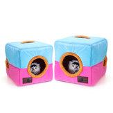 Soft Przytulna jaskinia Igloo Ciepłe Pet Dog Dog / Puppy / Cat / Kitten Cube House Pet Bed