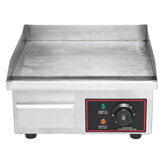 1500W 220V Commercial Electric Griddle BBQ Grill Pan Hot Plate Stainless Steel