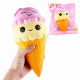SanQi Elan Squishy Ice Cream Cone Jumbo 22cm Licensed Slow Rising With Packaging Collection Gift Soft Toy