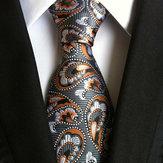 Mężczyźni biznesu retro krata krawat żakardowe strony formalne więzi retro