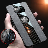 Bakeey for POCO X3 NFC Case with Magnetic Ring Bracket Stand Shockproof Breathable Cloth Fabric Protective Case Non-original