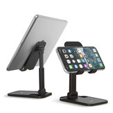 TOPK D1 Universal Foldable Telescopic Height Adjustable Mobile Phone/ Tablet Holder Desktop Stand Bracket for Devices below 12.9 inch
