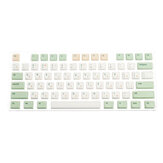 134 Keys Retro Milk Green Keycap Set XDA Profile PBT Sublimation Keycaps for 61/64/87/108 Keys Mechanical Keyboards