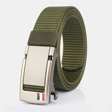 Men Nylon 120CM Holeless Automatic Buckle Alloy Universal Outdoor Casual Belt