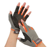 XINDA H-ST04 Climbing Half Finger Gloves Professional Leather Anti Slip Gloves Hiking Riding Camping