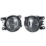 Car Front Bumper Fog Lights with H11 Halogen Lamps Pair for Dacia Duster Sandero Logan 2004-2015
