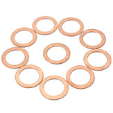 10pcs M6/M8/M12/M14 Copper Washer Motorcycle ATV Brake Fuel Banjo Seal