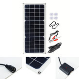 16V 10W 1.2A 420x190x2.5mm Monocrystalline Semi-flexible Solar Panel Set with Rear Junction Box Support Single USB Port