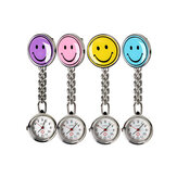 Portable Charm Smile Face Nuse Watch roestvrij stalen zakhorloges