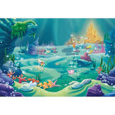 5x3FT 7x5FT 9x6FT Underwater Castle Fish Studio Photography Backdrops Background