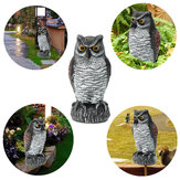 Fake Standing Owl Bird Hunting Disparo Decoy Disuasión Repelente Garden Scarer