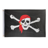Skull Crossbones Jolly Roger Pirate Flag With Bandana Flag Polyester Motorcycle