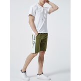 Men Hooded Shorts Sleeve Elastic Waist Drawstring Shorts Casual Suit Two Pieces