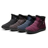 Mujeres Impermeable Invierno Warm Flats Fur Forrado Cuña Tobillo Botas Soft Snow Shoes Snow Botas