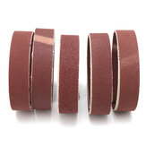 5Pcs  80/100/150/240/320 Grit Sanding Belts 25mm Width  Aluminum Oxide Sanding Belt
