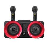 Bakeey SD-307 Kablosuz Bluetooth Hoparlör 30W Çift Sürücüler Stereo TF Kartı AUX-In 1800mAh Aydınlık Ev Karaoke Çift Kablosuz Mikrofonlu Taşınabilir Aile Soundbar