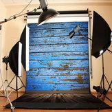 3X5FT retro piso de madera azul tablero de estudio foto fotografía de fondo telón de fondo
