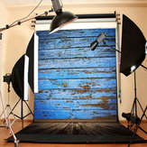 3X5FT Retro Holzboden Blue Board Studio Foto Fotografie Hintergrund Backdrop
