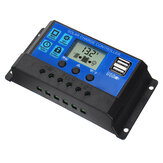 10/20/30A 12V-24V Solar Panel Battery Regulator Charge Controller USB LCD Charger