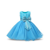 Flower Toddler Girls Kids Bröllop Formell Princess Dress