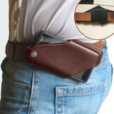 Erkekler Hakiki Deri 4.7 inç ~ 5.8 inç Telefon Çanta Bel Çanta Kolay Taşıma EDC Çanta Outdoor için