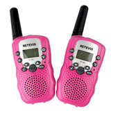 2pcs Retevis RT388 22 Channels 462~467MHz Mini Handheld Kids Two Way Radio Walkie Talkie With Battery Charger