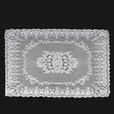 Spitzentischdecke Weiß Vintage Großer Tischtuchbezug Hochzeitsdekor 1,4 x 2m
